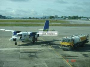 Twin Otter at Kuching International Airport just before leaving for Mukah